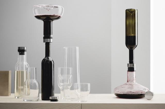 Flaschenkühler, Weinthermometer, Aufsätze, Flaschenöffner und Dekantierkaraffen von Menu Design, online bestellen