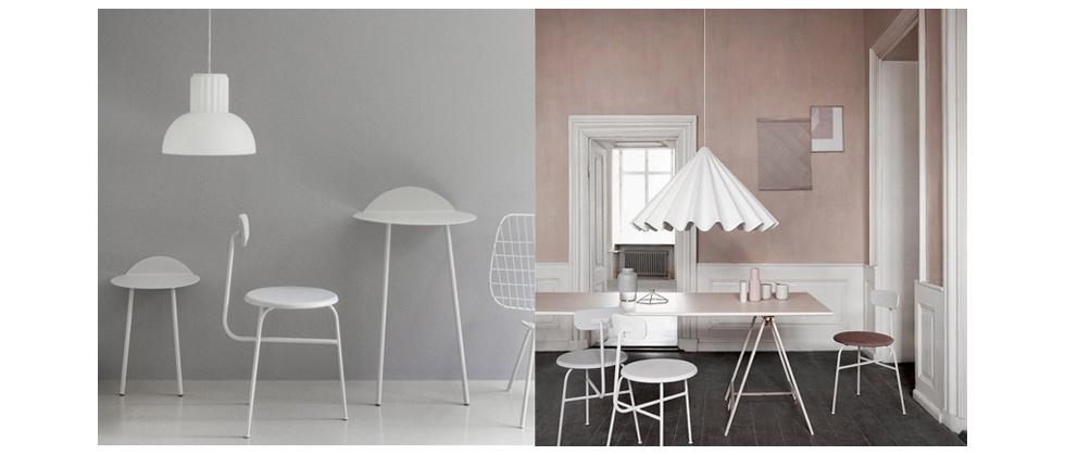 Hängeleuchten und Lampen in Weiß von Menu - skandinavisches Design für die Wohnung, Leuchten, Dancing Pendant, The Standard, GM 30, industrielampe