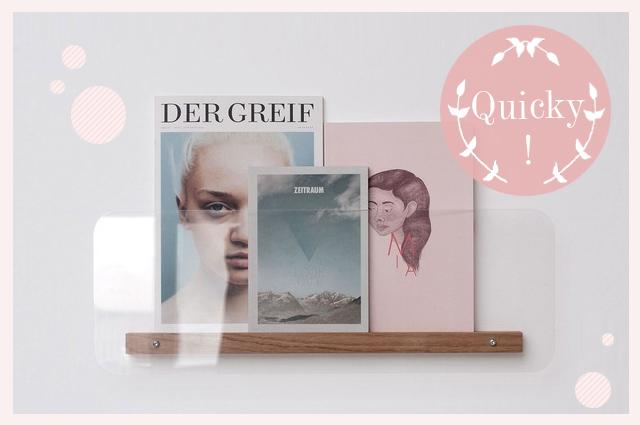 Magazinhalter aus Plaxiglas und Holz von Min-Jon, Interiordesign und Möbel online bestellen, Zeitschriftenständer