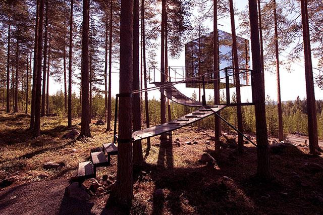 Treehotel mit The Cube in Schweden