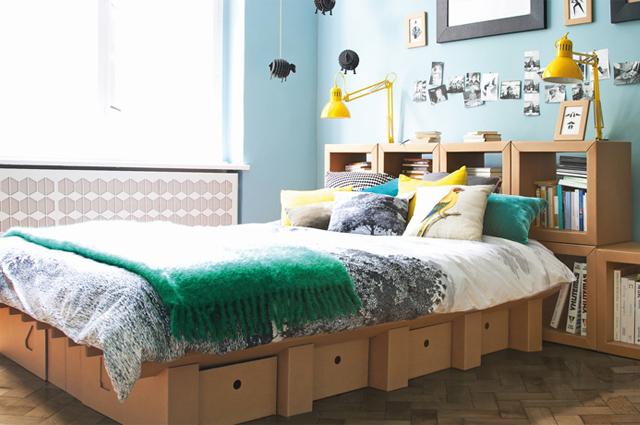 Bett aus Pappe, selbst zusammenbauen, von STANGE DESIGN aus Berlin, online bestellen