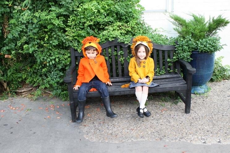 Tiermäntel aus Filz für Kinder von Little Goodall, Löwen Design auch als Kostüm verwendbar, Online bestellen