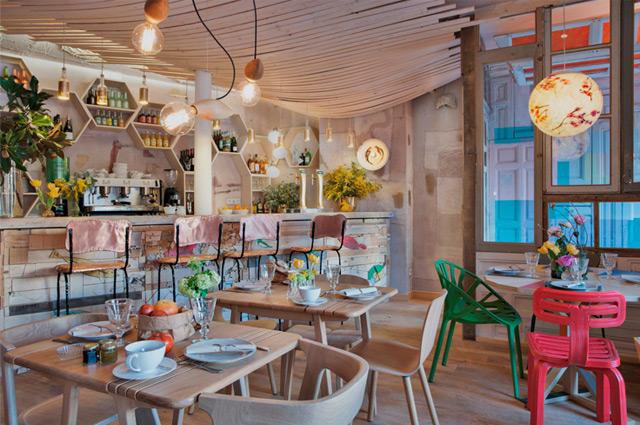 Restaurant Mama Campo in Madrid, Biolebensmittel und Organic Food mit tollem Interiordesign, Empfehlung, Tipp