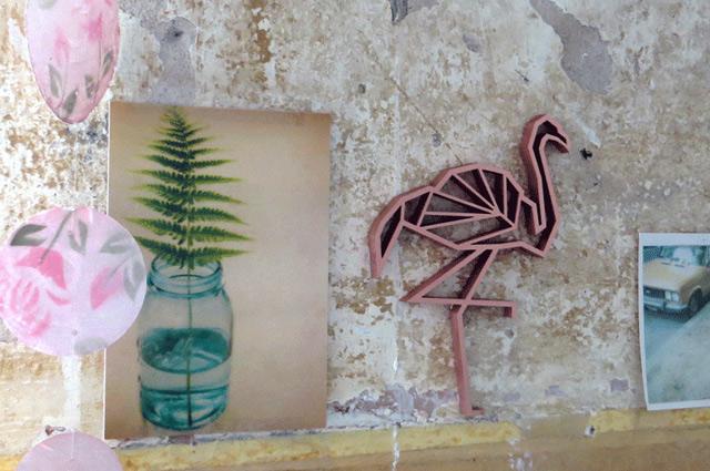 3D-Statements und Wandmotive von NOGALLERY aus Köln, Flamingo, Dekoelement