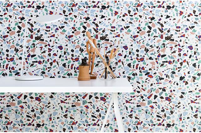 Fototapete von Photowall, Designertapete von Nothing can go Wrng mit Terrazzo Muster