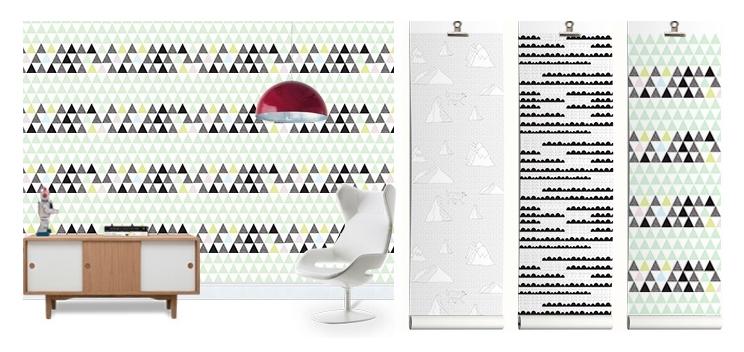 Fototapete mit Grafik Muster von Photowall