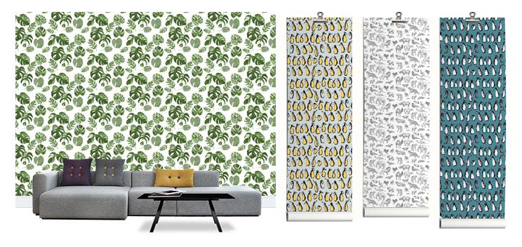Designertapete mit Pflanzen, Botanik, Blätter und Monstera von Photowall
