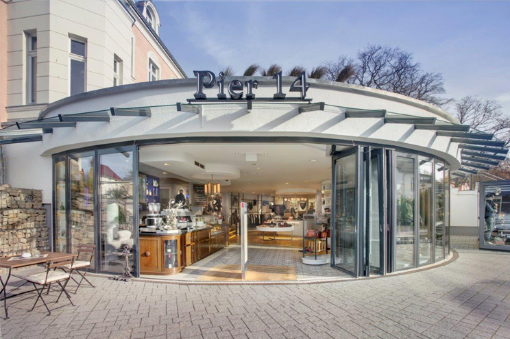 Concept Store mit Restaurant, Café und Shop im Pier 14 in Zinnowitz auf Usedom, shopping, essen, tipps