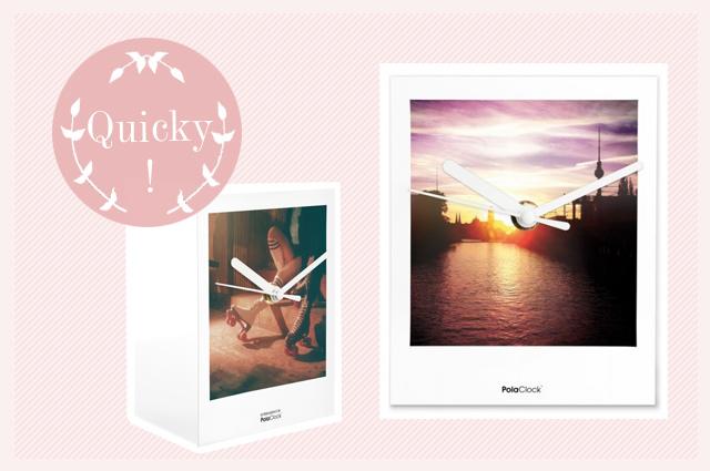 Polaclock Wanduhr mit Motiven und Fotos auf Polaroid, uhr, online bestellen