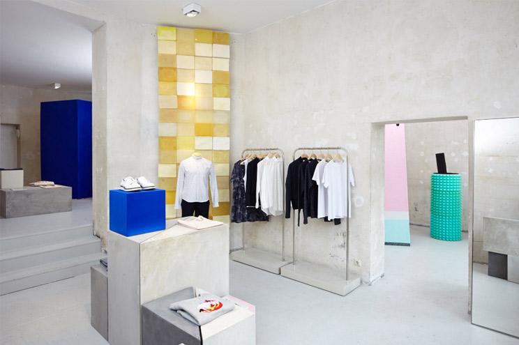 Der Seek No Further Pop-Up Store in der Torstrasse 66, Berlin Mitte