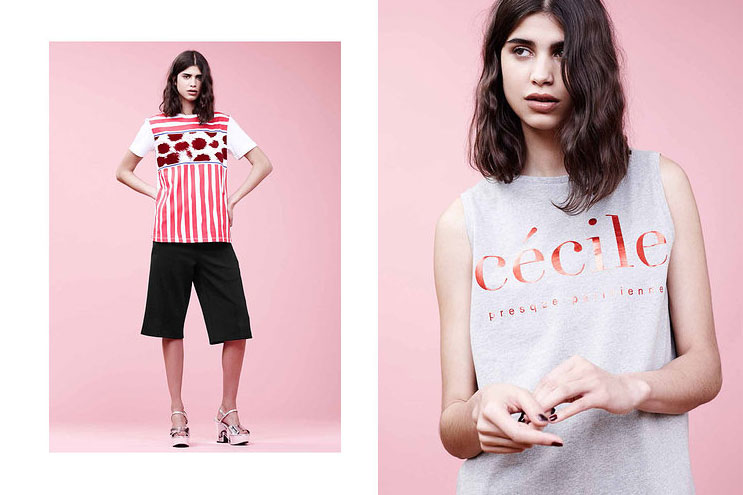 Etre Cecile Presque parisienne print sweater and T-Shirt