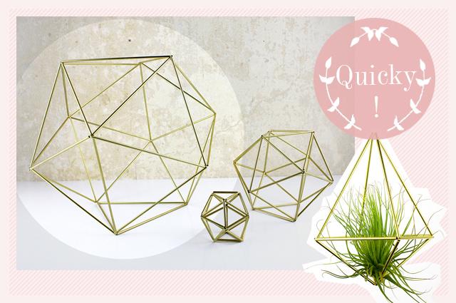 Raumata geometrische Deko-Objekte für Luftpflanzen bei Dawanda online bestellen, wohnaccessoires, dekoration, einrichtung