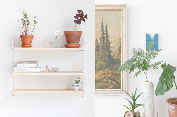 String Regal in Weiß und Wandekoration, Inspiration und Ideen zum Selbermachen für Zuhause, Wohnung, Weiß, skandinavischer Stil