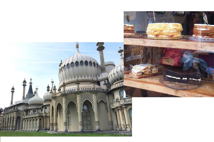 Sehenswürdigkeiten in Brighton mit dem Royal Pavillion in Brighton und englischer Fudge