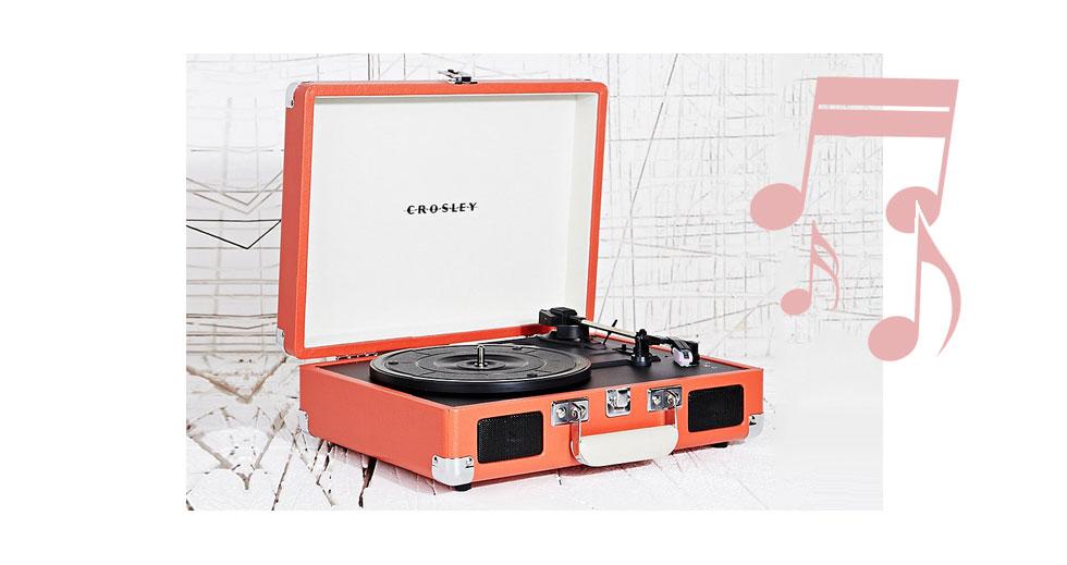Tragbarer Plattenspieler von Crosley in Koffer Design