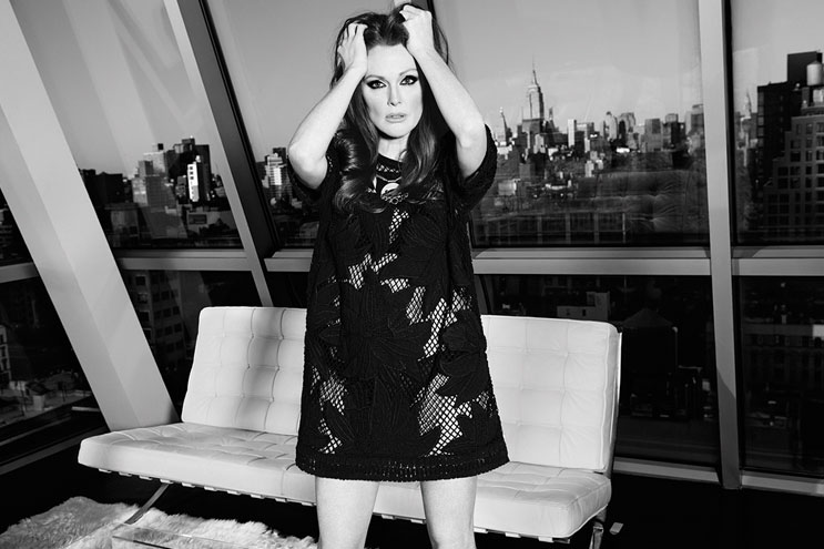 Lace Dress - Juliane Moore in New York Loft Apartment