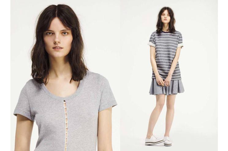 T-Shirt in Grau oder mit Streifen von Seek no Further, Das neue Label von Fruit of the Loom