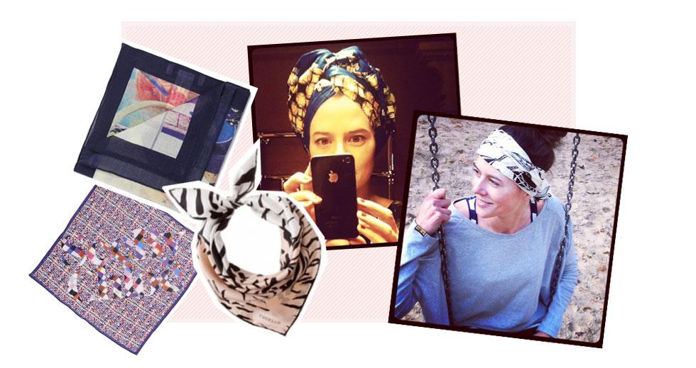 Trend sommer 2014 - Foulards und seidentücher im Haar