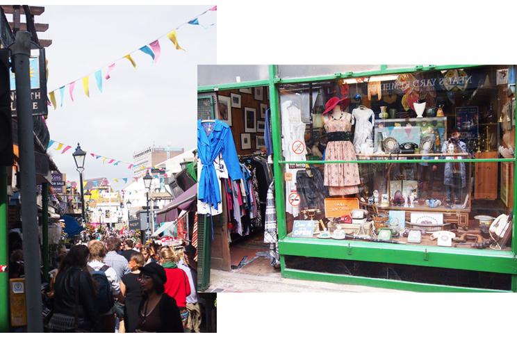 Vintage- und Retromode in The North Laine Brighton, Shops, Einkaufen, Tipps, Shops, Einkaufen