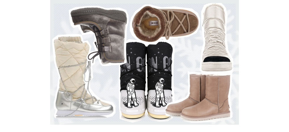 Schneestiefel, Schneeschuhe, Snowboots und Winterstiefel von Moonboots, Ikkii, Sorel, Stella McCartney for Adidas und Ugg, wasserdicht, mit Fell oder Gortex online bestellen