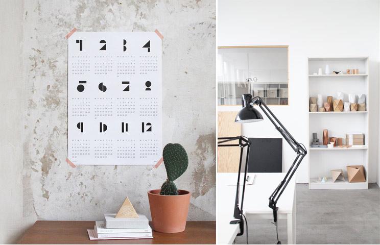 Der neue Wandkalender 2014 von snug.studio, Blick ins Atelier von snug.studio