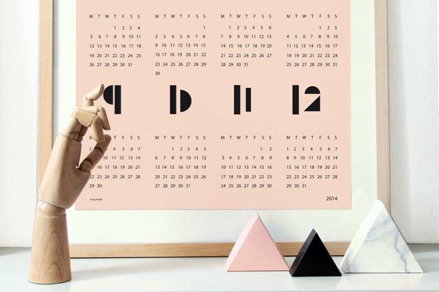 Kalender für 2014 von snug.studio