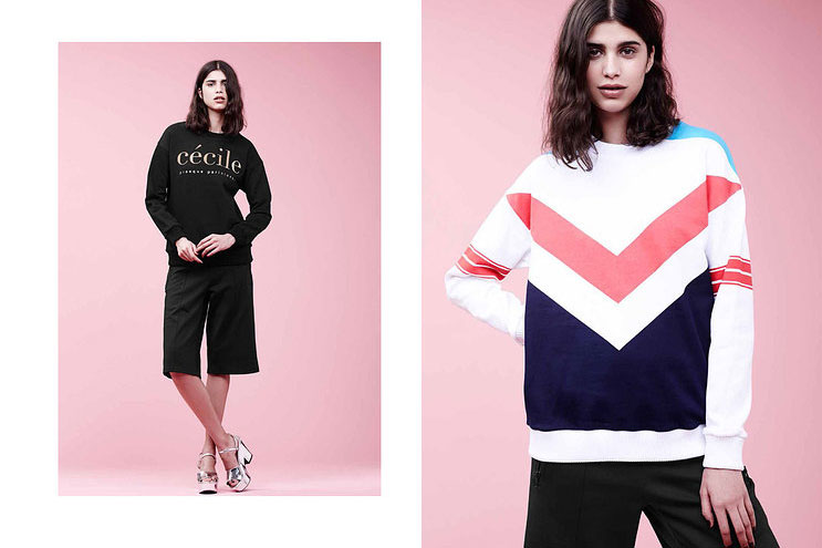 statement sweater with print and colours from etre cecile