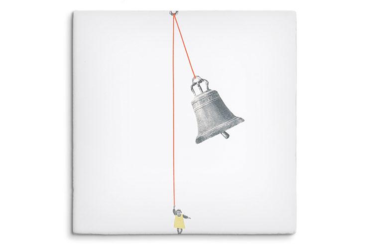 Fliesen-Motiv mit Glocke von Storytiles.nl