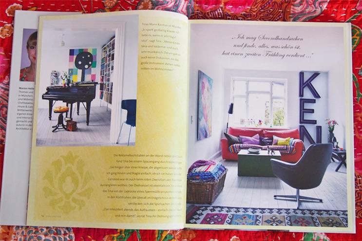 Buch - Style Interiors von Marion Hellweg - Wohnen und Einrichten mit bunten Farben und Retro-Möbeln im Vintage Stil, Designklassiker