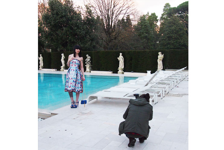 Blogger Event, Firenze4ever, Bloggerin Ricarda von Cats & Dogs, Styling und Shhoting im Style Lab Outfit von Luisaviaroma