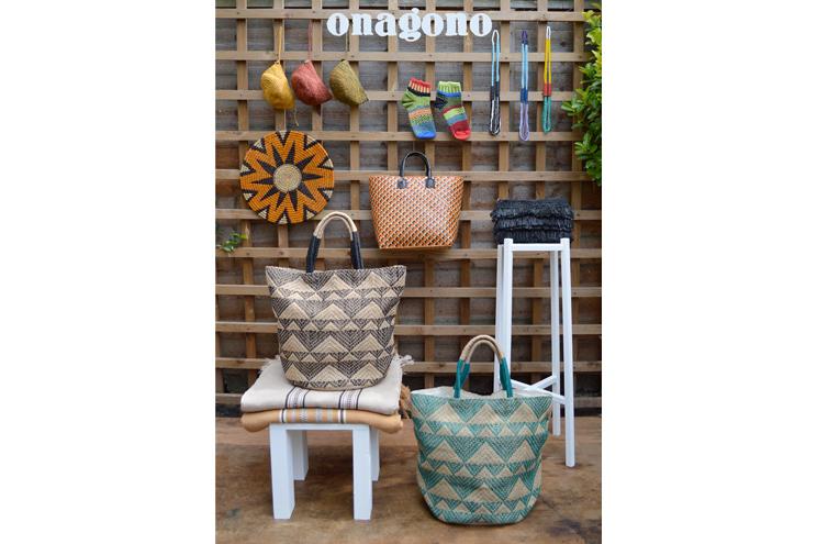 Wohnaccessoires und Taschen von Onagono im Supermarket Sarah Onlineshop, Korbtaschen, Korbaccessoires