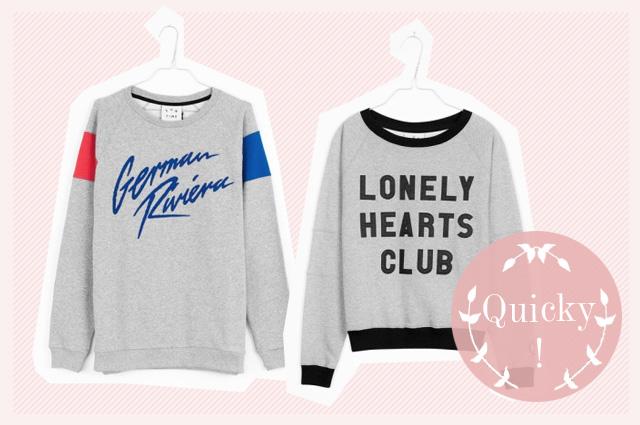 Sweatshirts in Grau von Fun Time mit Sprüchen - German Riviera und Lonely Heats Club, Schrift, Statement, online bestellen