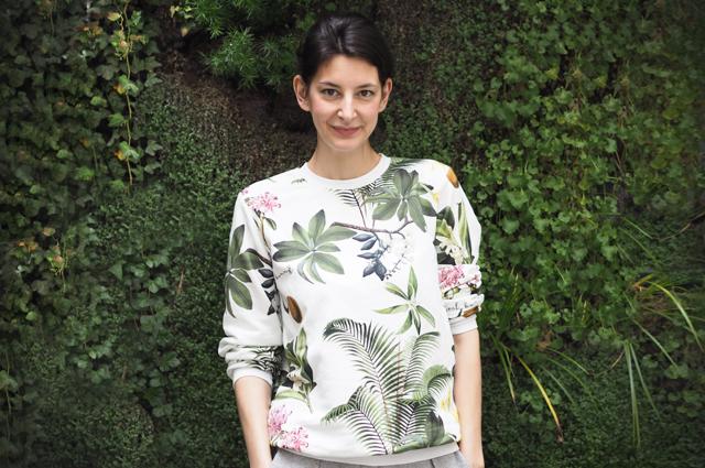 Sweatshirt von Yeah Bunny mit Botanik Palmen Print