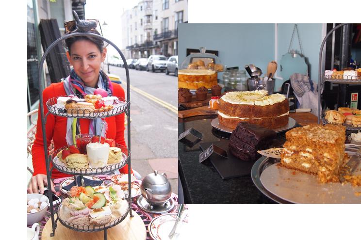 Traditionelle Tea Time im Metrodeco in Brighton, Cafe, Restaurant, Art Deco, Antiquitäten, Einkaufen