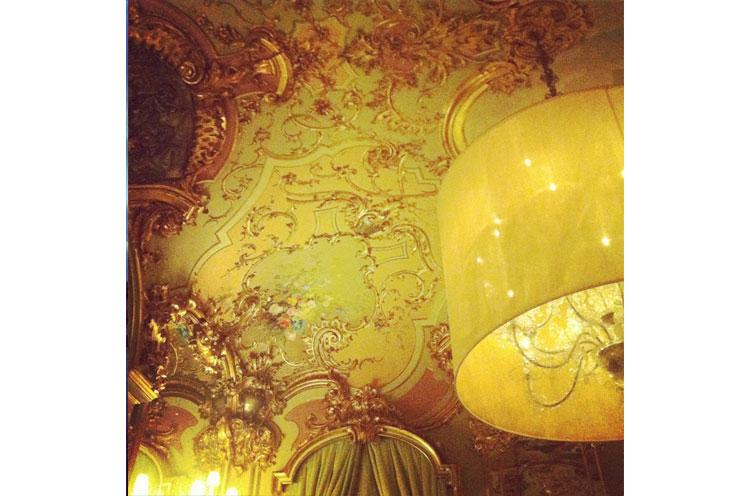 Luxus Hotel Villa Cora in Florenz, Interior, Inneneinrichtung, Stuckdecke