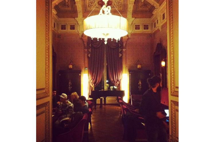 Hotel Villa Cora in Florenz, Inneneinrichtung, Interior und Lobby, Kronleuchter, Luxus Hotel