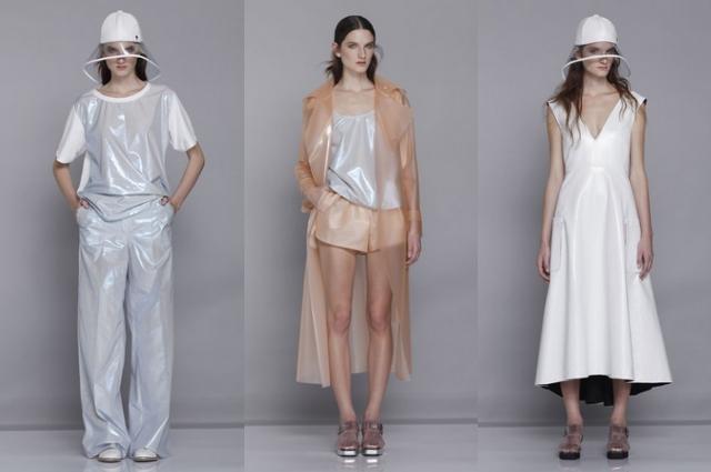 Wanda Nylon Kollektion Spring/Summer 2014, Regenmäntel und Regenjacken aus Lack, PVC und transparent