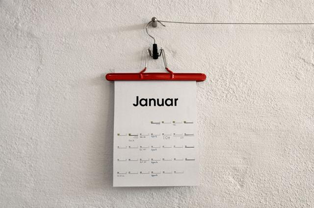 Wandkalender 2015 am Bügel, Typo Kalender von We Love it online bestellen