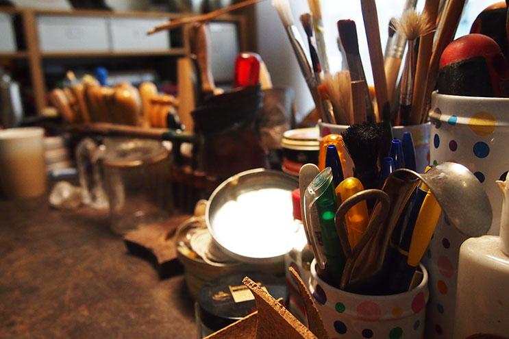 Werkstatt mit Werkzeug von saskia Wittmer in Florenz