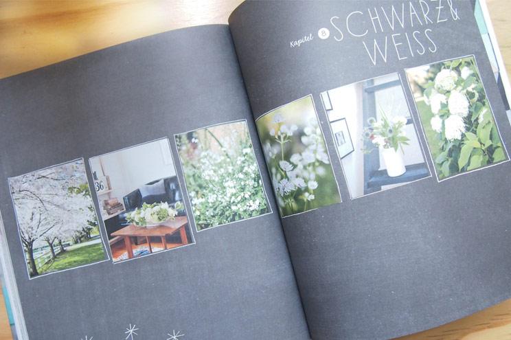 Einrichtung, Dekoration, Ideen und Inspiration für Zuhause mit Blumen in Schwarz Weiß von Holly Becker im Buch Wohnen mit Blumen