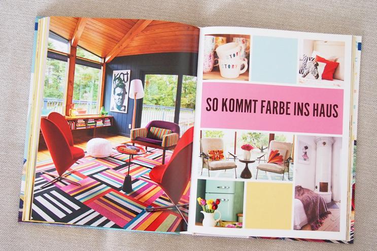 Buch Wohnen macht glücklich von Will Taylor - Einrichten und dekorieren mit Farbe, Wandgestaltung, Wandfarbe, kräftige Farben, anstreichen,