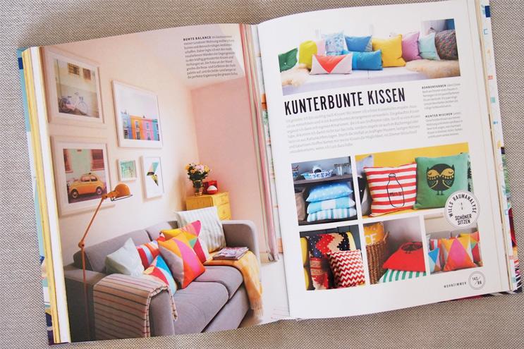 Buch Wohnen macht glücklich von Will Taylor - Einrichten und dekorieren mit Farbe und bunten Kissen, einrichten, design,