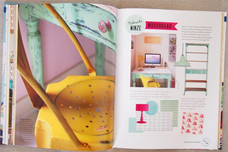 Buch Wohnen macht glücklich von Will Taylor - Einrichten und dekorieren mit Farbe, Mint und Pastell, einrichten, wohnen, ideen