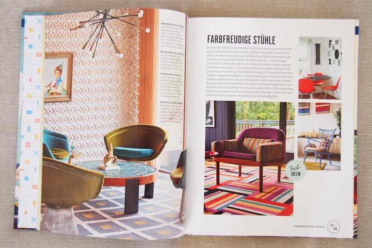 Buch Wohnen macht glücklich von Will Taylor - Einrichten und dekorieren mit Farbe und bunten Stühlen, einrichten, tipps, ideen