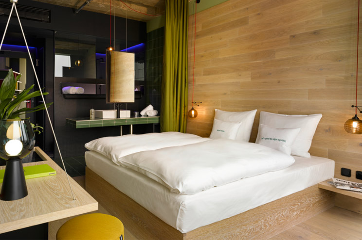Zimmer Jungle M4 im 25h Hotel Bikini Berlin, Doppelzimmer, Einrichtung